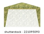 Military Tent On A White...
