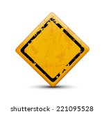 metal warning sign isolated on... | Shutterstock .eps vector #221095528