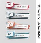 vector infographic origami... | Shutterstock .eps vector #221096656