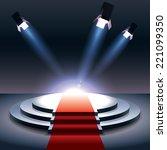 spotlight with projectors  | Shutterstock .eps vector #221099350