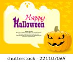 happy halloween greetings | Shutterstock .eps vector #221107069