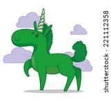 cute unicorn  vector | Shutterstock .eps vector #221112358