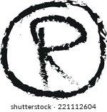 doodle trademark r vector