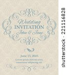 invitation with calligraphy... | Shutterstock .eps vector #221116828