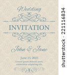 invitation with calligraphy... | Shutterstock .eps vector #221116834
