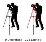 cameraman silhouette | Shutterstock .eps vector #221128459