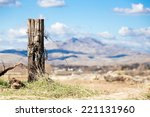 old wood fence post with... | Shutterstock . vector #221131960