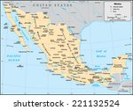 mexico country map | Shutterstock .eps vector #221132524