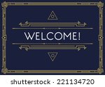 gatsby style invitation in art... | Shutterstock .eps vector #221134720