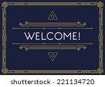 Gatsby Style Invitation in Art Deco or Nouveau Epoch 1920's Gangster Era Vector  | Shutterstock vector #221134720