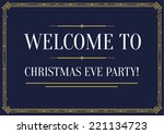 gatsby style invitation in art... | Shutterstock .eps vector #221134723