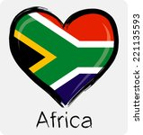 love south african flag | Shutterstock .eps vector #221135593
