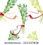 watercolour thyme branch... | Shutterstock . vector #221137828