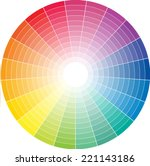 color wheel with the transition ... | Shutterstock .eps vector #221143186
