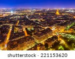 Aerial View Of Paris At Night ...