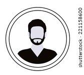 people design over white... | Shutterstock .eps vector #221158600
