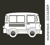 transport design over gray...   Shutterstock .eps vector #221162809
