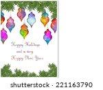 happy holidays | Shutterstock . vector #221163790