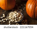 Roasted Salty Pumpkin Seeds...