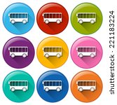 illustration of many color bus... | Shutterstock .eps vector #221183224