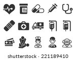health care icons   medical... | Shutterstock .eps vector #221189410
