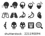symptoms icons   medical... | Shutterstock .eps vector #221190094
