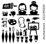 artist vector icons | Shutterstock .eps vector #221190334