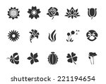 flower icons   illustration | Shutterstock .eps vector #221194654