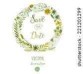 vector watercolor colorful...   Shutterstock .eps vector #221201299