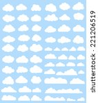 clouds vector set | Shutterstock .eps vector #221206519