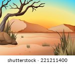 illustration of a view of a... | Shutterstock .eps vector #221211400