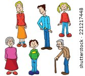 family set cartoon illustration | Shutterstock .eps vector #221217448