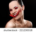 portrait of fashion model with... | Shutterstock . vector #221230318