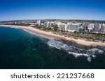 aerial view of beachfront... | Shutterstock . vector #221237668