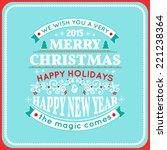 christmas card ornament...   Shutterstock .eps vector #221238364