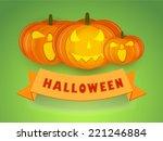 stylish poster for halloween... | Shutterstock .eps vector #221246884