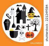 halloween vector  | Shutterstock .eps vector #221249584