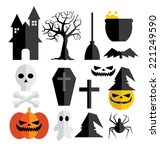 halloween vector  | Shutterstock .eps vector #221249590