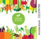 vegetables vector illustration | Shutterstock .eps vector #221254783
