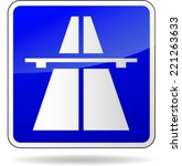 vector illustration of freeway... | Shutterstock .eps vector #221263633