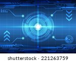 abstract  technology concept...   Shutterstock .eps vector #221263759