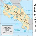 costa rica country map | Shutterstock .eps vector #221270554