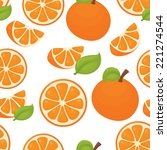 seamless orange pattern | Shutterstock .eps vector #221274544