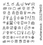 doodle icons universal set | Shutterstock . vector #221278453