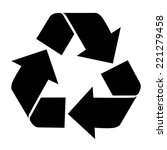 Recycling Icon Isolated On...