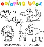 set of wild animals first.... | Shutterstock .eps vector #221282689