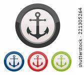 anchor icon | Shutterstock .eps vector #221305264