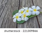 Small photo of A bunch of frangipani white with a yellow head smell. assuage