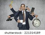 multipurpose businessman | Shutterstock . vector #221314189