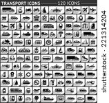 120 transport flat icon  gray... | Shutterstock .eps vector #221314204